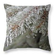 Spruce Under Glass Throw Pillow
