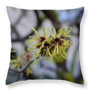 Spry In Yellow  Throw Pillow