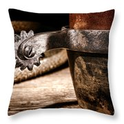 Spur Throw Pillow by Olivier Le Queinec