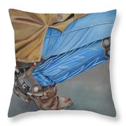 Spur Squatting Throw Pillow