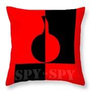 Spy Vs Spy Throw Pillow