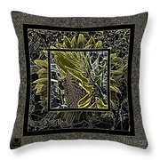 Sq Sunflower Stack Cont L Throw Pillow