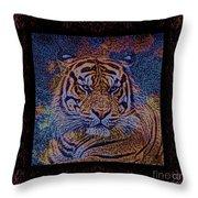 Sq Tiger Sat 6k X 6k Cranberry Wd2 Throw Pillow