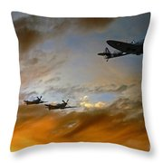 Squadron Scramble Throw Pillow