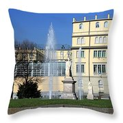 Square And Statues Throw Pillow