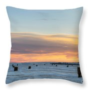 Square Bales Throw Pillow