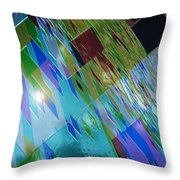 Square Black Holes Throw Pillow