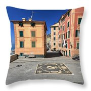 square in Sori - Italy Throw Pillow