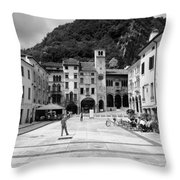 Square In The Summer Throw Pillow