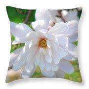 Square Magnolia Throw Pillow