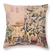 Square Of The Hotel De Ville Throw Pillow
