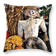Square Scarecrow Throw Pillow