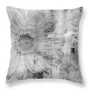 Square Series - Black White 5 Throw Pillow