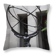 Square Shoulders - Hercules Statue Throw Pillow