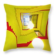 Square Spiral Throw Pillow
