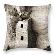 Square Tower House Throw Pillow