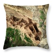Square Tower Ruin Throw Pillow