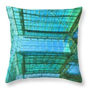 Squares And Triangles Throw Pillow