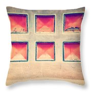 Squares In Wall Throw Pillow