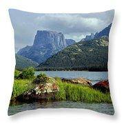 Squaretop Mountain 1 Throw Pillow