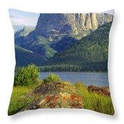 Squaretop Mountain 2 Throw Pillow