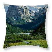 Squaretop Mountain 3 Throw Pillow
