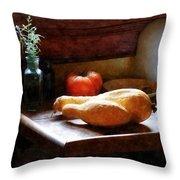 Squash And Tomato Throw Pillow