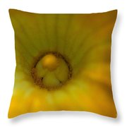 Squash Bloom Throw Pillow