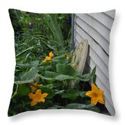 Squash Blossoms Throw Pillow