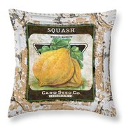 Squash On Vintage Tin Throw Pillow