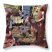 Squaw And Chief Throw Pillow