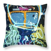 Squid On The Loose Throw Pillow