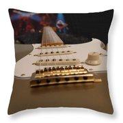 Squier Stratocastor Guitar - 3 Throw Pillow