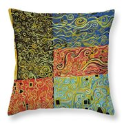 Squiggalution Throw Pillow