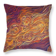 Squiggle Stream Throw Pillow