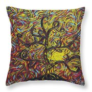 Squiggling In The Wind Throw Pillow