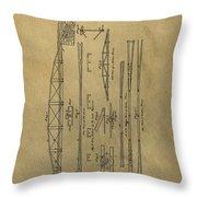 Squire Whipple Truss Bridge Patent Throw Pillow