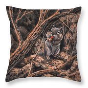 Squirrel-ly Throw Pillow