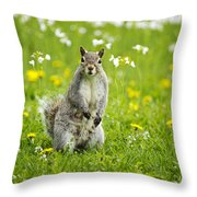 Squirrel Patrol Throw Pillow