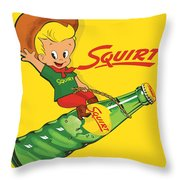 Squirt 2 Throw Pillow