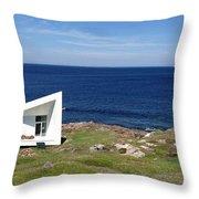 Squish Studio Tilting Fogo Island Newfoundland Throw Pillow