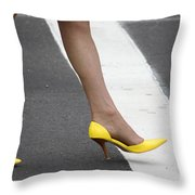 Squished Lemons  Throw Pillow