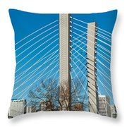 Sr-509 Cable Stayed Bridge Throw Pillow