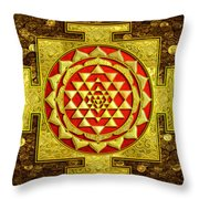 Sri Lakshmi Yantra Throw Pillow