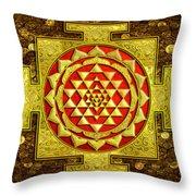 Sri Lakshmi Yantra Throw Pillow by Lila Shravani