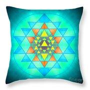 Sri Yantra Variation Throw Pillow