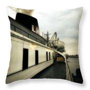 S.s. Badger Car Ferry Throw Pillow