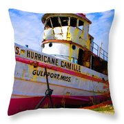 Ss Hurricane Camille Tugboat Throw Pillow