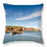 St Abbs Cliffs Throw Pillow