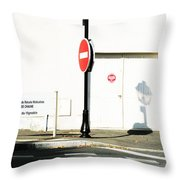 St. Aignan Signs And Shadows Throw Pillow